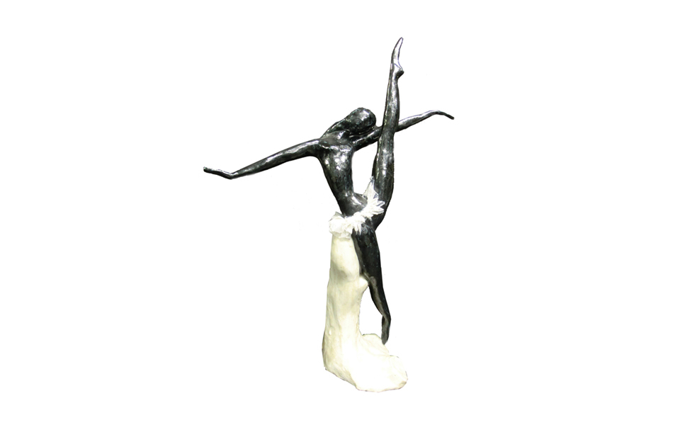 Lladro figurine of porcelain: Black ballerina