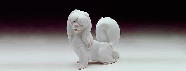Flirty and playful dogs in Lladro porcelain figurines