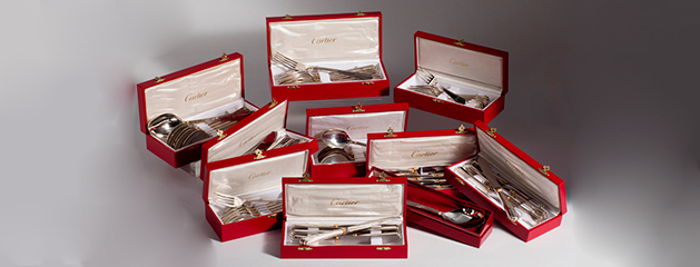 "Cutlery in silver ""la maison Louis Cartier"""