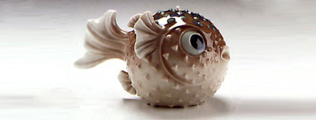 Lladro expresses the beauty and the danger of round fish