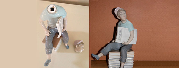 How to fix a broken porcelain figurine of Lladro?  Cocowif