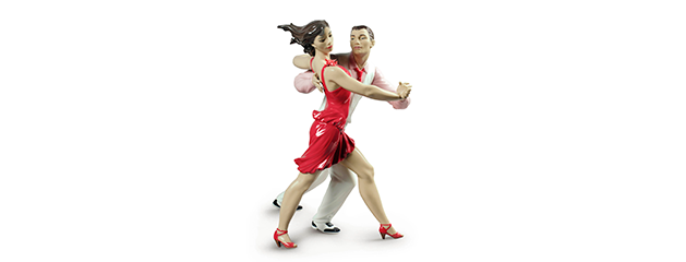 New issues of Lladro with porcelain figurine of salsa dancers