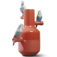 What is the parrot party collection of Lladro porcelain?